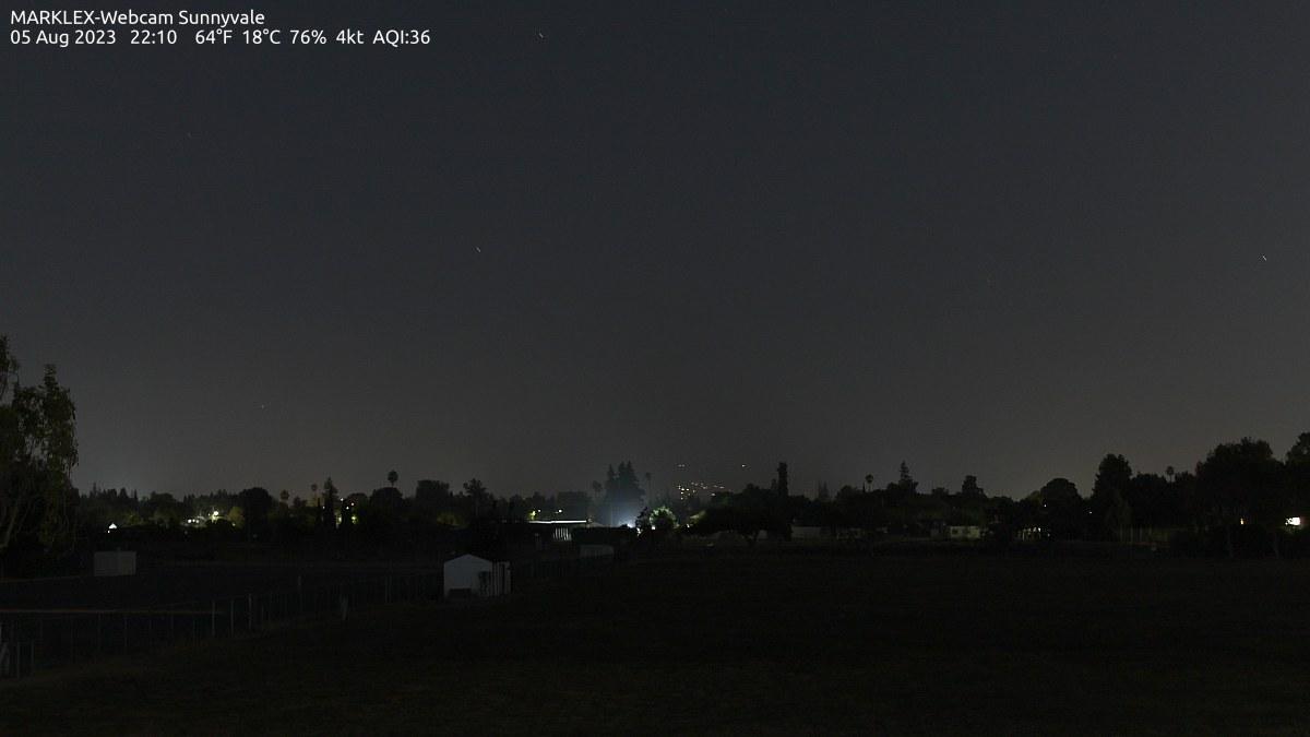 Sunnyvale, California Wed. 22:13