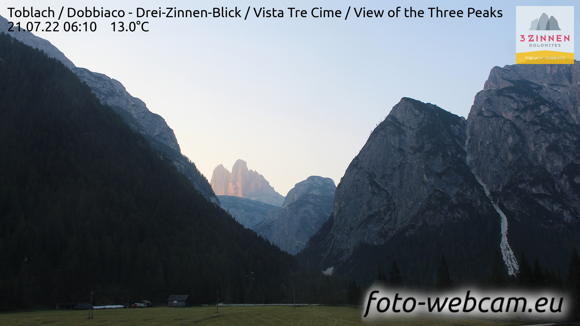 Toblach (Dolomites) Tue. 06:27