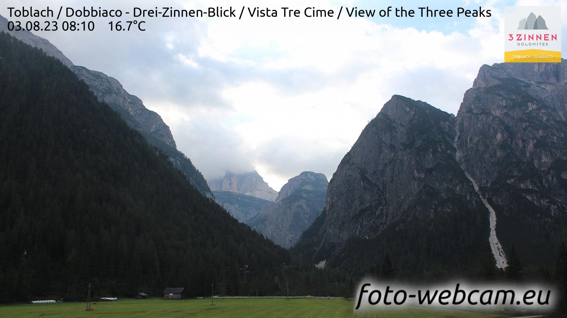 Toblach (Dolomites) Tue. 08:27