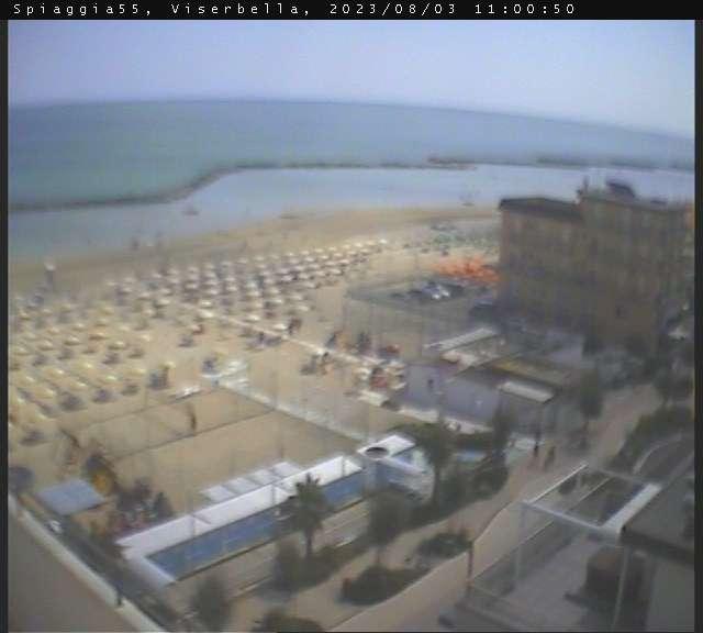 Webcam viserbella di rimini bagno 55 for Bagno 8 rivabella