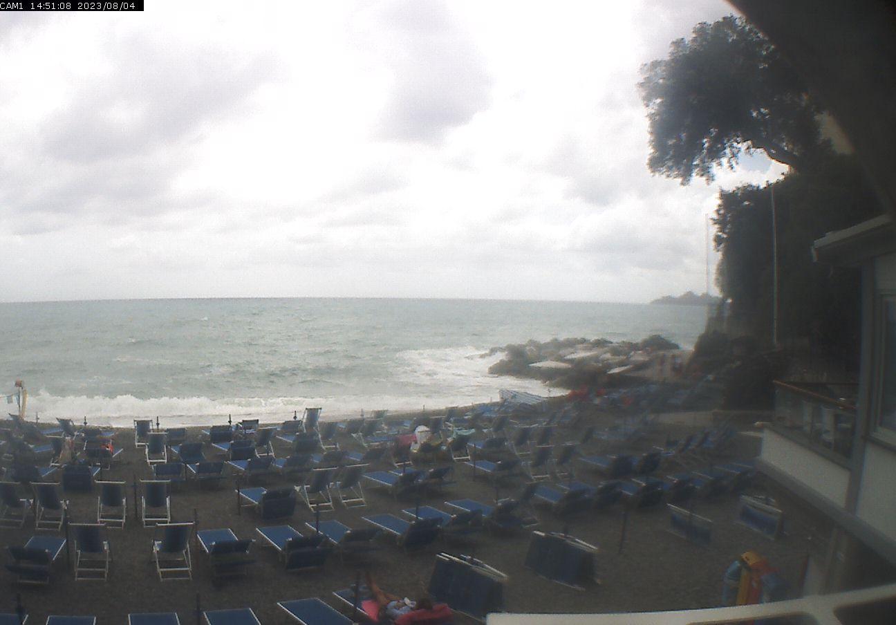 Webcam zoagli beach of zoagli