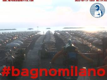 Cesenatico: Webcam Bagno Milano - Webcam Galore