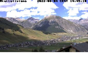 View onto Livigno