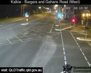 Bargara Road and Gahans Road (looking west)