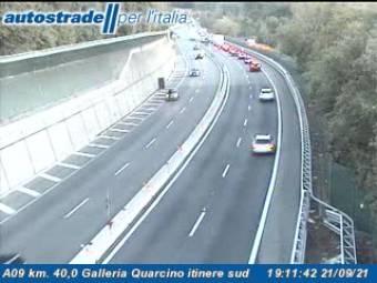 Traffic A09 - KM 40,0 - Galleria Quarcino itinere sud