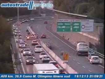 Traffic A09 - KM 39,6 - Como M. Olimpino itinere sud