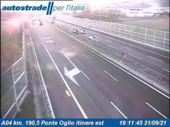 Verkehr A04 - KM 190,5 - Ponte Oglio itinere est