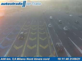Traffic A08 - KM 5,6 - Milano Nord itinere nord