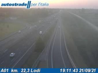 Traffic A01  - KM -  22,3 Lodi