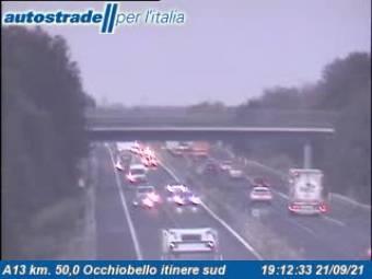 Traffic A13 - KM 50,0 - Occhiobello itinere sud