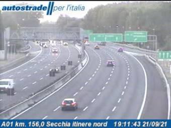 Traffic A01 - KM 156,0 - Secchia itinere nord