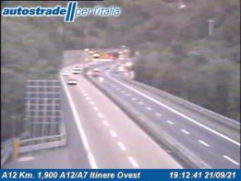 Traffic A12 - KM 1,9 - A12/A7 itinere ovest