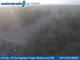 Traffic A12 - KM 15,0 - Torrimpietra Tower itinere nord