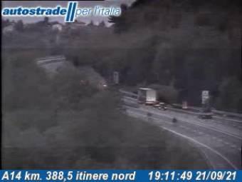 Traffico A14 - KM 388,5 - Pescara Sud itinere nord