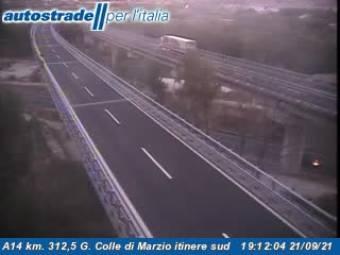 Traffic A14 - KM 312,0 - G. Colle di Marzio itinere sud