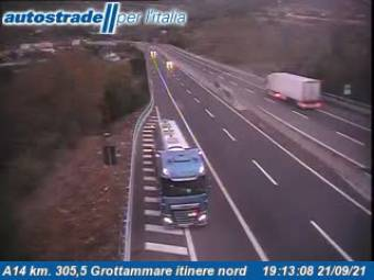 Traffic A14 - KM 305,5 - Grottammare itinere nord