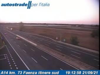 Verkehr A14 - KM 73 - Faenza itinere sud