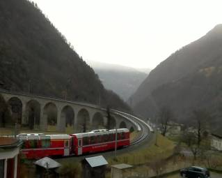 Spiral Viaduct Bernina Express