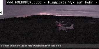 Blick vom Tower Wyk Flugplatz - Panoramaansicht