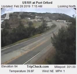 Webcam Port Orford, Oregon