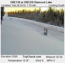 Webcam Diamond Lake, Oregon