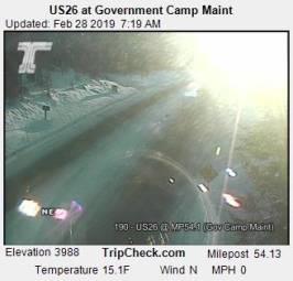 Webcam Government Camp, Oregon