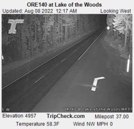 Webcam Lake of the Woods, Oregon