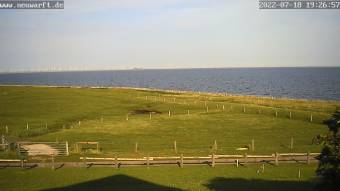 View of the North Sea and Hallig Gröde